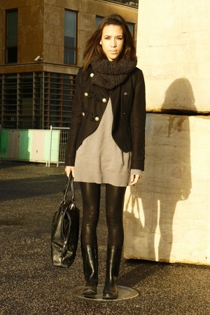 Topshop jacket - Zara sweater - American Apparel panties - Decathlon boots - H&M