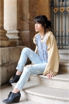 Adeline Rapon jacket - SANDRO shirt - Cheap Monday jeans - Quai de Scene shoes