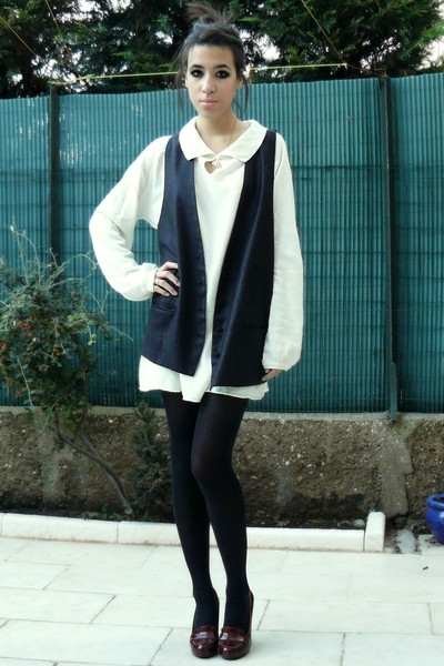 kooka shoes - Maje vest - Zara sweater - panties