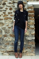 Topshop blazer - Uniqlo shirt - Cheap Monday jeans - Newlook shoes - vintage