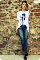 SANDRO jeans - Zara shirt - Quai de Scene shoes