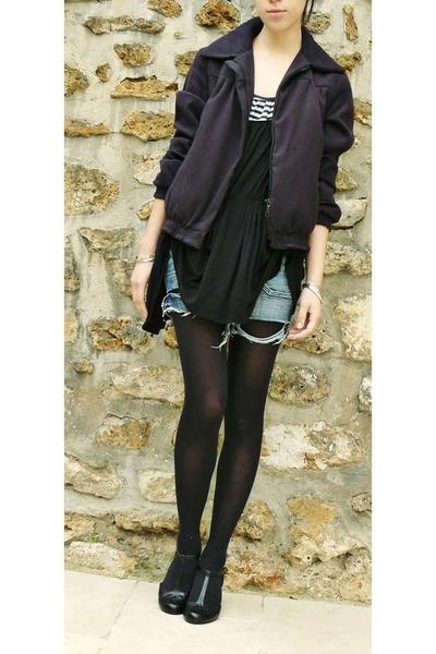 Maje blazer - SANDRO top - Mango top - texto shoes -  shorts