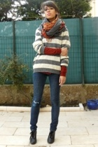 American Apparel shirt - united colors of benetton sweater - Cheap Monday jeans