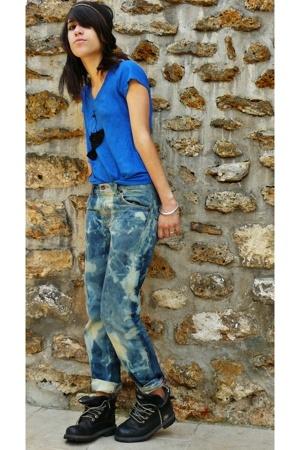 Maje t-shirt - H&M jeans - Timberland boots