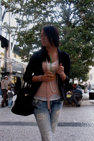 Zara jeans - H&M jacket - Mango shirt - top