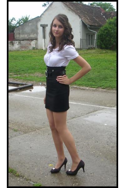 Black Skirts White Shirts Black Heels The End By