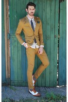 mustard suit