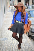 blue Primark shirt - black Stradivarius skirt