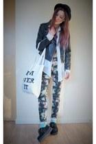 Sheinsidecom jacket - H&M bag - pants