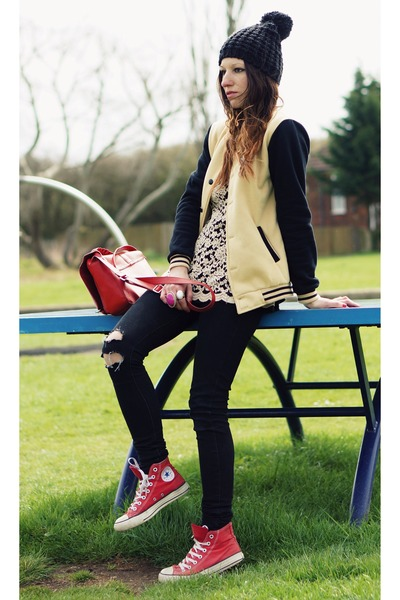 CONTRAST COLOR BASEBALL JACKET jacket