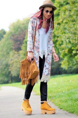 boots - bag - sunglasses - top - cardigan