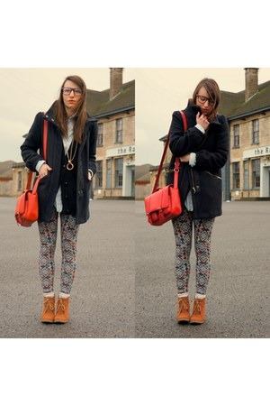 H&M bag - H&M coat - Stradivarius leggings
