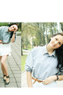 Light-blue-diy-spike-collar-shirt-black-steve-madden-flats-white-skirt-bro