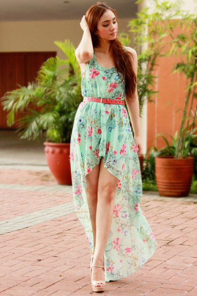aquamarine high-low Sheinside dress