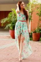 aquamarine high-low Sheinside dress