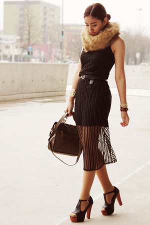 black transparent matilda clothing dress