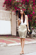 white cami TFNC LONDON dress