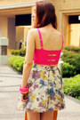 Hot-pink-bralet-primark-intimate-light-purple-uneven-poisonberry-skirt