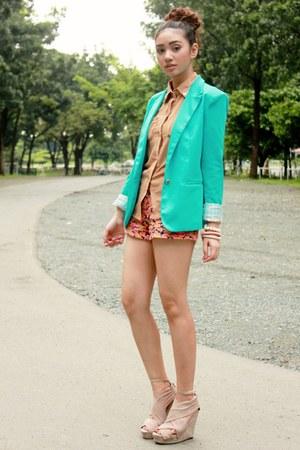aquamarine choiescom blazer - bubble gum floral Primark shorts