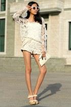 ivory Aldo shoes - white Zara jacket - ivory Stradivarius bag