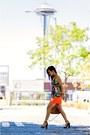 Carrot-orange-lace-topshop-skirt-camel-steve-bag-black-strappy-asos-sandals