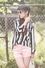 White-striped-forever-21-shirt-black-newsboy-cap-from-japan-hat