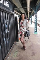 Aldo boots - H&M dress - Cole Haan bag - JCrew cardigan