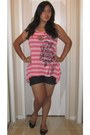 Hot-pink-local-boutique-shirt-black-elemenio-shorts-black-ross-flats