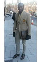 beige makol blazer - Zara bag - brown Massimo Dutti loafers - beige Zara pants