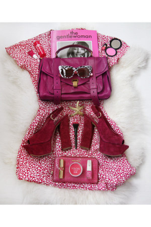 hot pink square MiuMiu bag