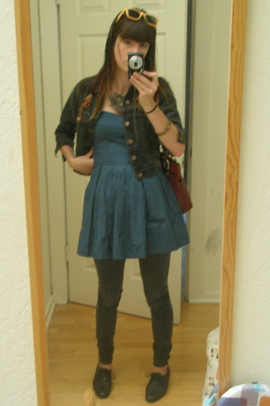 H&M top - me jeans - vintage jacket - paraphernalia accessories