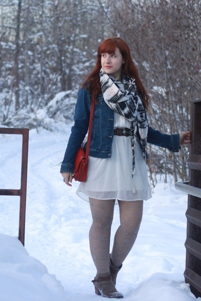 white american eagle outfitters dress - dark brown DV by dolce vita boots