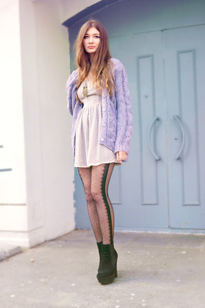 Love dress - OASAP tights - OASAP necklace