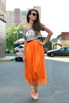 orange tulle Zanzea skirt