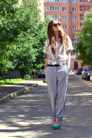 dark brown H&M sunglasses