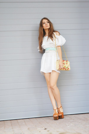 white OASAP dress