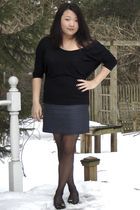 black American Apparel shirt - gray Ann Taylor Loft skirt - Michael Michael Kors