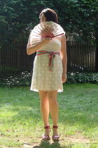 beige Benvied dress - pink J Crew belt - pink Sofft shoes