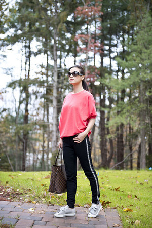 JCrew sweater - JCrew pants - Prada sneakers