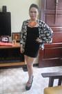 Black-zara-dress-carrot-orange-market-market-necklace-black-topshop-heels