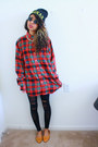 Ruby-red-plaid-ralph-lauren-shirt-black-gold-urban-relaxation-hat