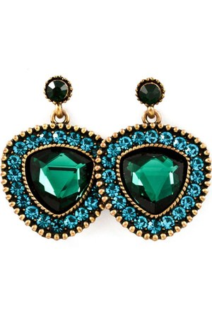 dark green bronze earrings