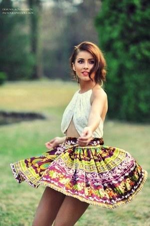 maroon summer Roxana Simon dress