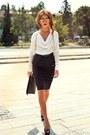 White-silk-no1-shirt-black-clutch-rinascimento-bag