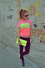 Chartreuse-neon-clutch-random-bag-orange-bubble-gum-random-top