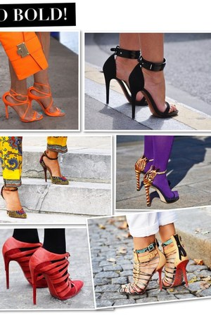 orange leather Giuseppe Zanotti heels