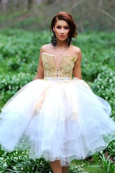 eggshell sheer Roxana Simon dress
