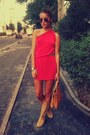 Light-orange-random-boots-hot-pink-one-shoulder-asos-dress