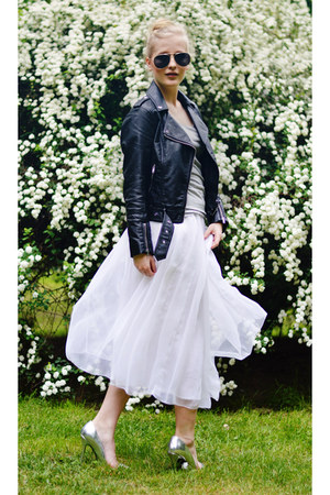H&M jacket - vintage skirt - deezeepl heels