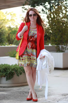 H&M blazer - Forever 21 dress - White House Black Market coat - Old Navy purse